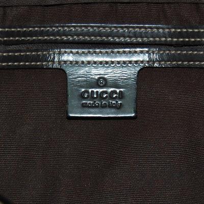 GG pattern boston bag dark brown